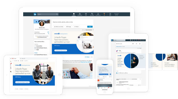 Mockup designs for Linkedin for the Boutique Northern Beaches Agency BMD, in the Mumbrella Asia Awards 2019