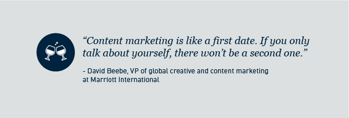 Content marketing is like a first date