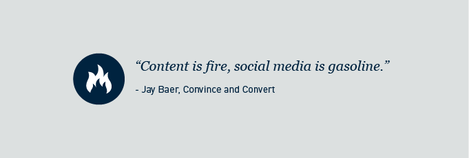 Content is fire social media is gasoline
