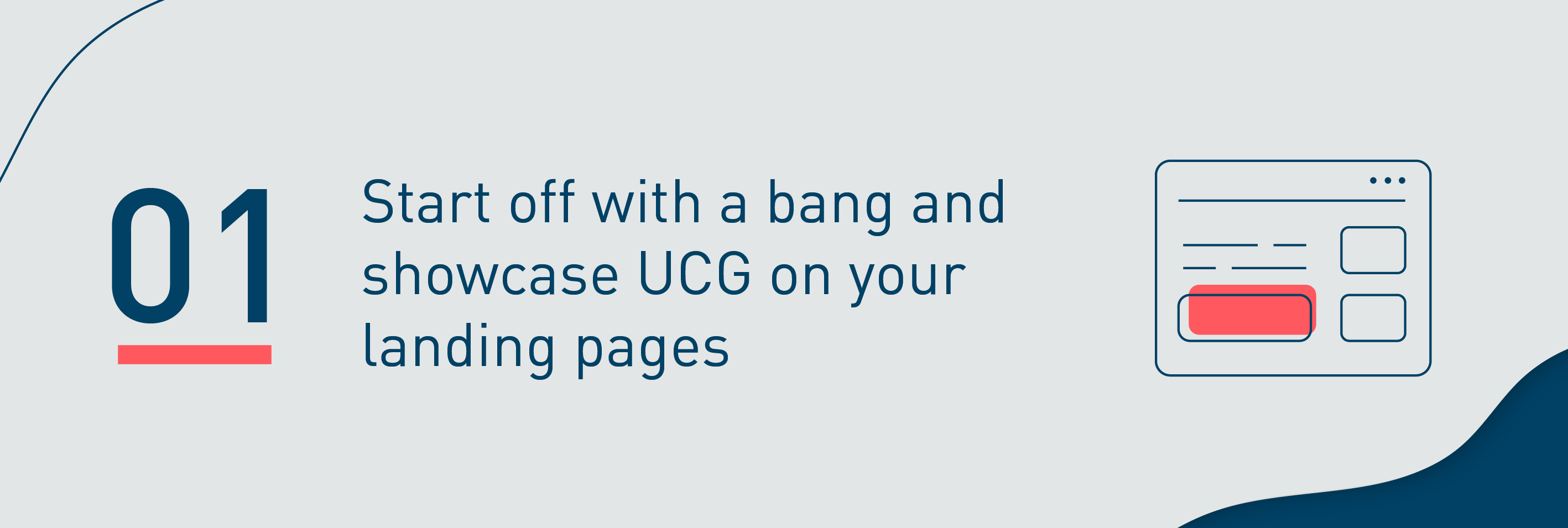 Showcase UCG on your landing pages